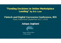 1. Funding decision in Online Marketplace Lending (Discussion Paper)