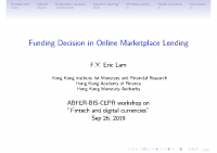 1. Funding decision in Online Marketplace Lending (Presentation)