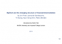 2. Bigtech and the changing structure of financial intermediation (Discussion Paper)