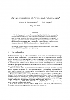 6. On the equivalence of private and public money (Paper)
