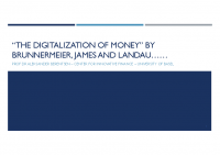 6. The digitalization of money – On the equivalence of private and public money (DP)