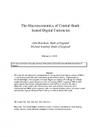 7. The macroeconomics of Central-Bank-Issued digital currencies (Paper)