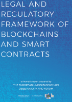 Legal framework of blockchains and smart contracts