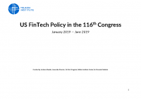 US FinTech Policy in the 116th Congress (June 2019 Update)